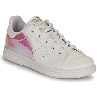 Shoes Girl Low top trainers adidas Originals STAN SMITH C SUSTAINABLE White / Pink / Iridescent