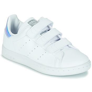 Shoes Girl Low top trainers adidas Originals STAN SMITH CF C SUSTAINABLE White / Iridescent