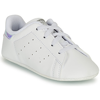 Shoes Girl Low top trainers adidas Originals STAN SMITH CRIB SUSTAINABLE White / Silver