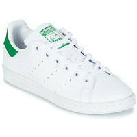 Shoes Children Low top trainers adidas Originals STAN SMITH J SUSTAINABLE White / Green