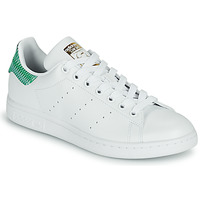 Shoes Women Low top trainers adidas Originals STAN SMITH W SUSTAINABLE White / Green / Graphic
