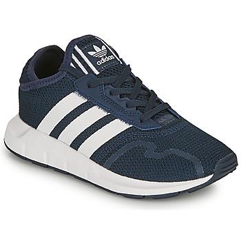 Shoes Boy Low top trainers adidas Originals SWIFT RUN X C Marine