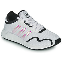 Shoes Girl Low top trainers adidas Originals SWIFT RUN X J White / Iridescent