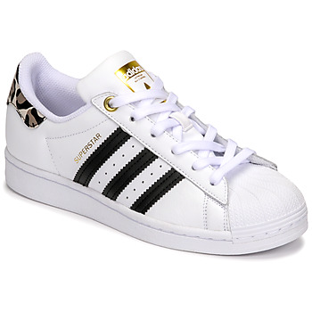 Shoes Women Low top trainers adidas Originals SUPERSTAR W White / Leopard