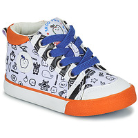 Shoes Boy Hi top trainers Shoo Pom BB ZIP BASKET White / Orange