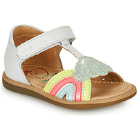 Shoes Girl Sandals Shoo Pom TITY RAINBOW White