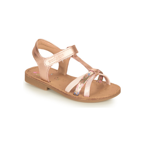 Shoes Girl Sandals Shoo Pom HAPPY SALOME Gold / Pink