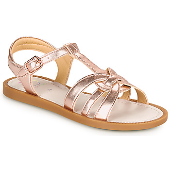 Shoes Girl Sandals Shoo Pom SOLAR BUCKLE Gold