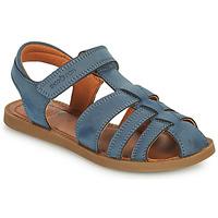 Shoes Boy Sandals Shoo Pom SOLAR TONTON Blue