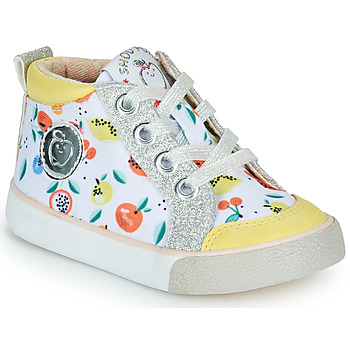 Shoes Girl Hi top trainers Shoo Pom BOUBA ZIP BASKET White / Yellow