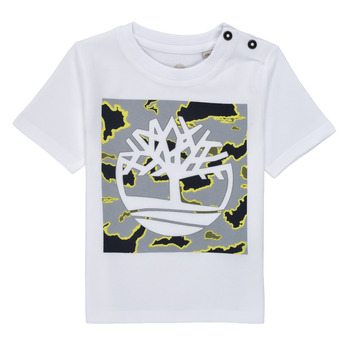 Clothing Boy Short-sleeved t-shirts Timberland PIRROW White