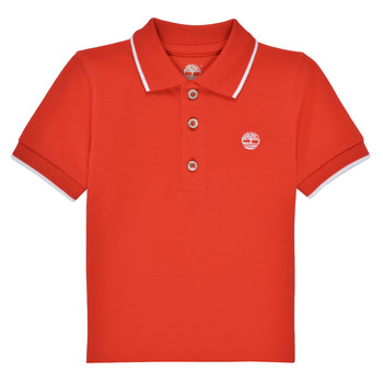 Clothing Boy Short-sleeved polo shirts Timberland HOUTI Red