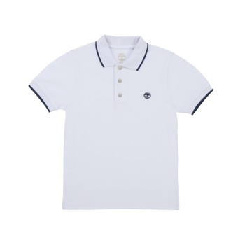 Clothing Boy Short-sleeved polo shirts Timberland COLLA White