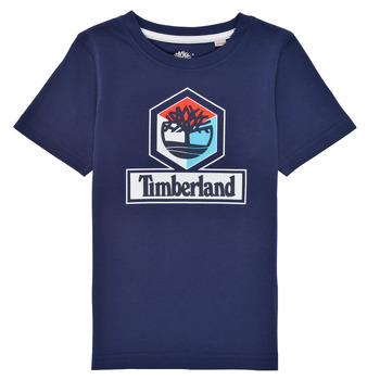 Clothing Boy Short-sleeved t-shirts Timberland GRISS Marine