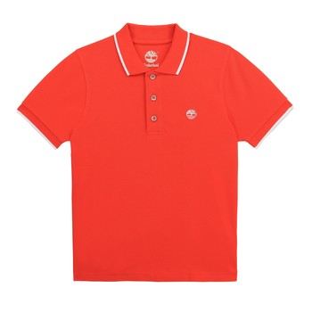 Clothing Boy Short-sleeved polo shirts Timberland HOLLI Red