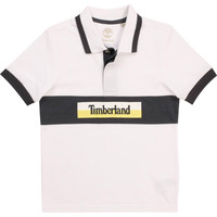 Clothing Boy Short-sleeved polo shirts Timberland DOTTO White