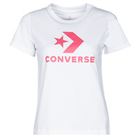 Clothing Women Short-sleeved t-shirts Converse STAR CHEVRON CENTER FRONT TEE White