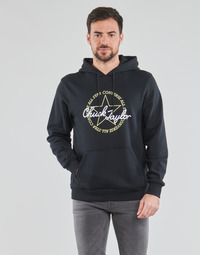 Clothing Men Sweaters Converse DECONSTRUCTED CHUCK PATCH PULLOVER HOODIE Black