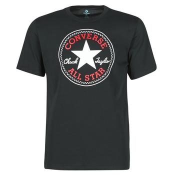 Clothing Men Short-sleeved t-shirts Converse NOVA CHUCK PATCH TEE Black