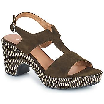 Shoes Women Sandals Adige ROMA V5 VELOURS MILITAR Kaki