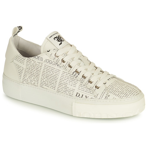 Shoes Men Low top trainers John Galliano LOLLA White