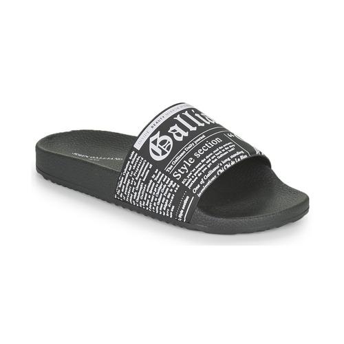 Shoes Men Sliders John Galliano SOULEL Black