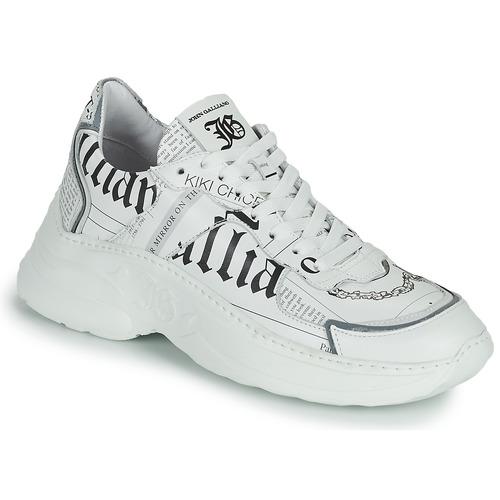 Shoes Women Low top trainers John Galliano SOFIA White
