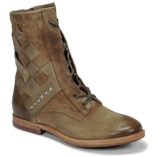 Shoes Women Mid boots Airstep / A.S.98 ZEPORT TRESSE Kaki