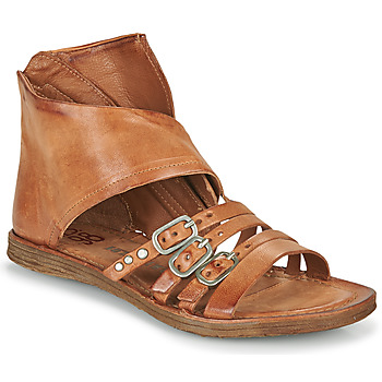 Shoes Women Sandals Airstep / A.S.98 RAMOS HIGH Camel