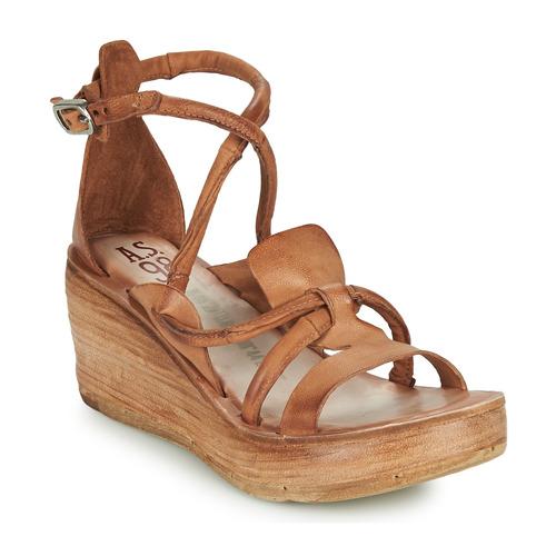 Shoes Women Sandals Airstep / A.S.98 NOA STRAP Camel