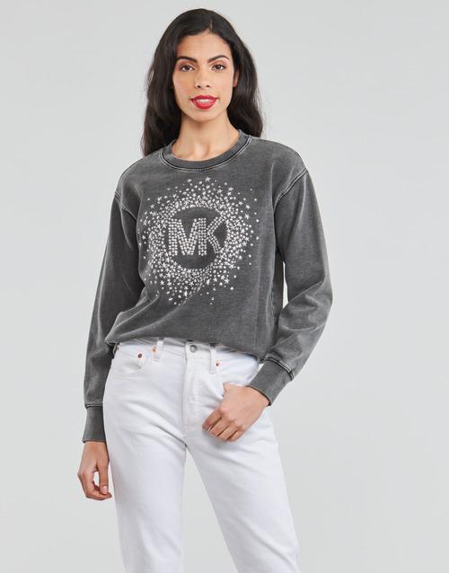 Clothing Women Sweaters MICHAEL Michael Kors ACID WSH MK STAR STUD Black