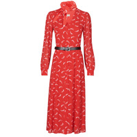 Clothing Women Long Dresses MICHAEL Michael Kors SIGNTRE LOGO SHRT DRS Red