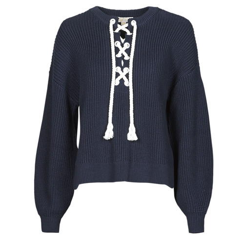 Clothing Women Jumpers MICHAEL Michael Kors EASY ROPE LACE SWTR Marine