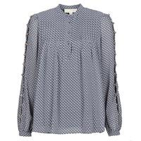 Clothing Women Tops / Blouses MICHAEL Michael Kors MINI FLORAL LS TOP Marine
