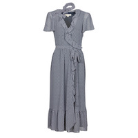 Clothing Women Long Dresses MICHAEL Michael Kors MINI BICOLR 60S FLRL DRS Blue
