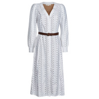 Clothing Women Long Dresses MICHAEL Michael Kors ROPE STRIPES HEMP DS White