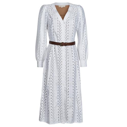 Clothing Women Long Dresses MICHAEL Michael Kors ROPE STRIPES HEMP DS White