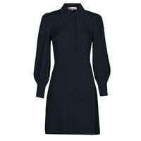 Clothing Women Short Dresses MICHAEL Michael Kors VI SATIN MINI DRESS Marine