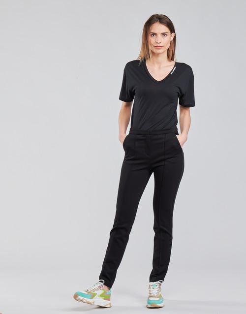 Clothing Women 5-pocket trousers Karl Lagerfeld SUMMERPUNTOPANTS Black