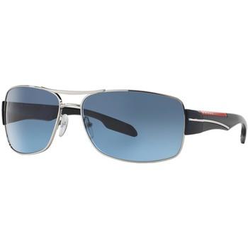 Watches & Jewellery  Sunglasses Prada Linea Rossa SPS53N Silver/Grey/Blue