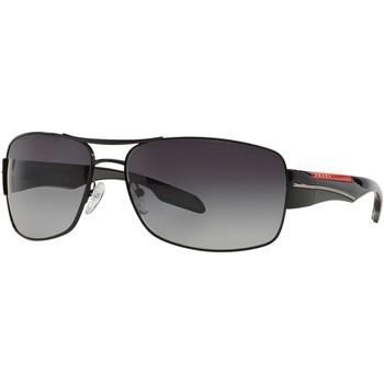 Watches & Jewellery  Sunglasses Prada Linea Rossa SPS53N Black/Polarised Grey Gradient