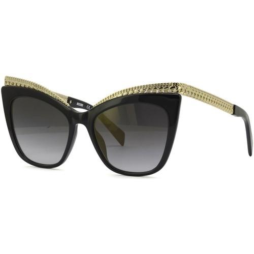 Watches & Jewellery  Women Sunglasses Love Moschino  Black/Gold Mirror