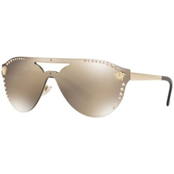 Watches & Jewellery  Women Sunglasses Versace VE2161B Brown/Gold Mirror