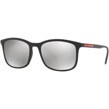 Watches & Jewellery  Sunglasses Prada Linea Rossa SPS01T Black/Silver Mirror