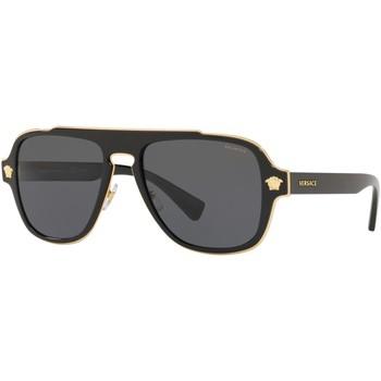 Watches & Jewellery  Sunglasses Versace Medusa Charm VE2199 Black/Grey Polarised
