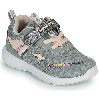 Shoes Girl Low top trainers Kangaroos KY-CHUMMY EV Grey / Pink