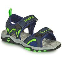 Shoes Boy Sandals Kangaroos K-MONT Blue / Green