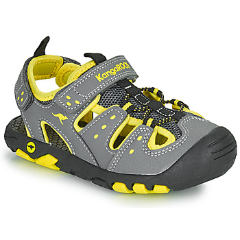 Shoes Boy Sandals Kangaroos K-TREK Grey / Yellow