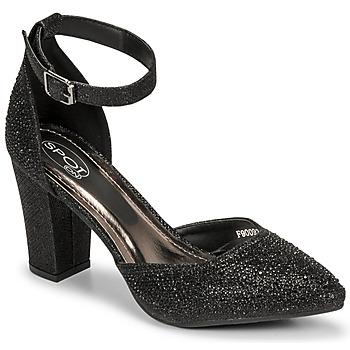 Shoes Women Sandals Spot on F90092 Black