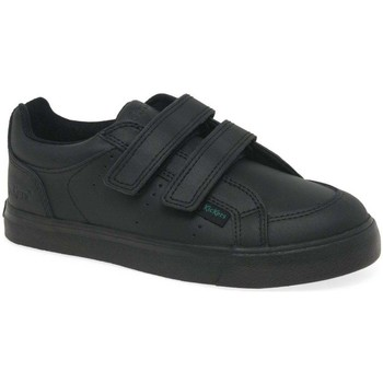 Shoes Boy Low top trainers Kickers Tovni Twin Riptape Boys School Shoes black